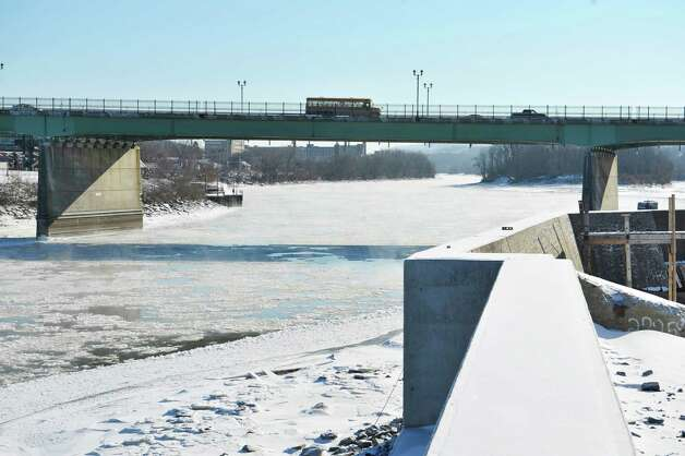 A view of the Route 30 bridge on Thursday, Jan. 8, 2015, in Amsterdam, N.Y., seen from the site of where the  Mohawk Valley Gateway Overlook bridge will be.   (Paul Buckowski / Times Union) Photo: Paul Buckowski / 00030103A