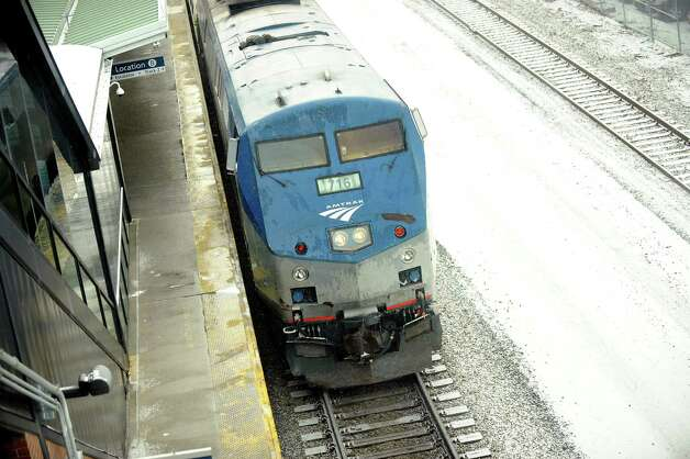 A train arrives from Penn Station on Tuesday, Jan. 6, 2015, at the Rensselaer Train Station in Rensselaer, N.Y. (Cindy Schultz / Times Union) Photo: Cindy Schultz / 00030093A
