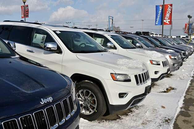 New Jeep Grand Cherokees at Armory Garage Friday Jan. 9, 2015, in Albany, NY.  (John Carl D'Annibale / Times Union) Photo: John Carl D'Annibale / 00030132C
