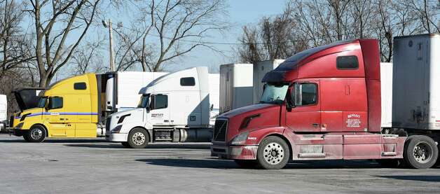 Truckers  take a break at the Exit 23 Truck Stop this morning  Jan. 8, 2015 in Albany, N.Y.  (Skip Dickstein/Times Union) Photo: SKIP DICKSTEIN