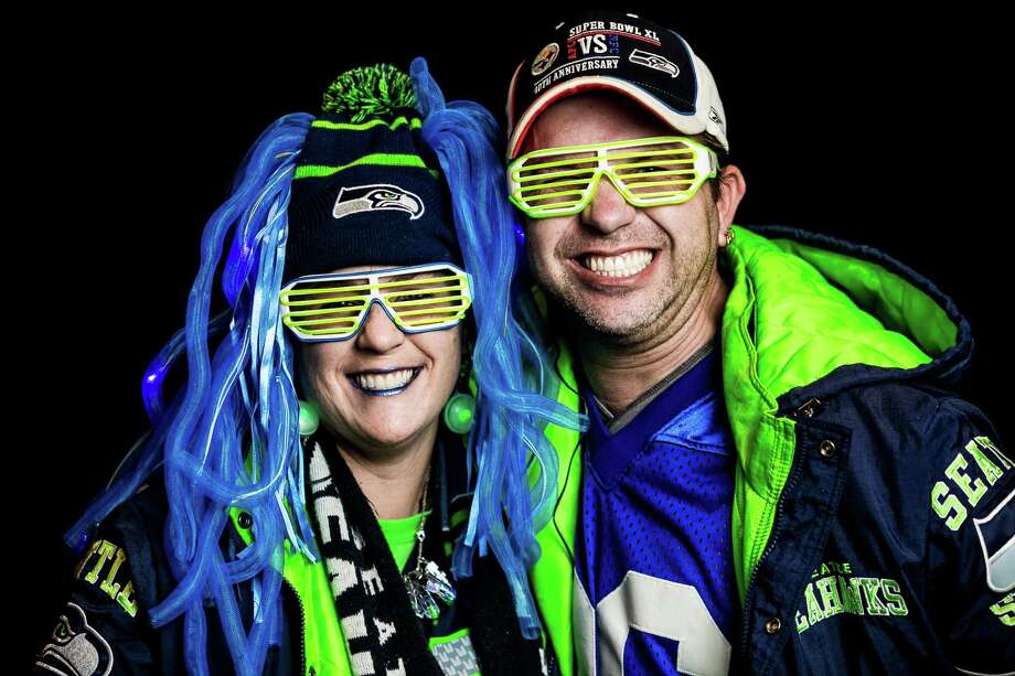 Seattle Seahawks fans show off their playoff pride for their home team before an NFC Divisional Playoff game against the Carolina Panthers on Saturday, January 10, 2015, at CenturyLink Field in Seattle, Washington. Photo: JOSHUA TRUJILLO, SEATTLEPI.COM / SEATTLEPI.COM