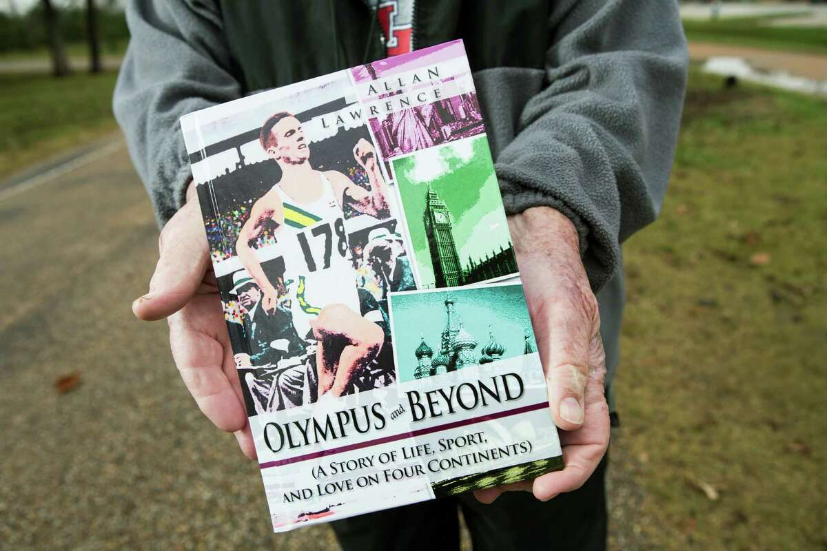 Olympus and Beyond, a book by Allan Lawrence, the elder statesman of running in Houston, is shown on Friday, Jan. 9, 2015, in Houston. ( Brett Coomer / Houston Chronicle )