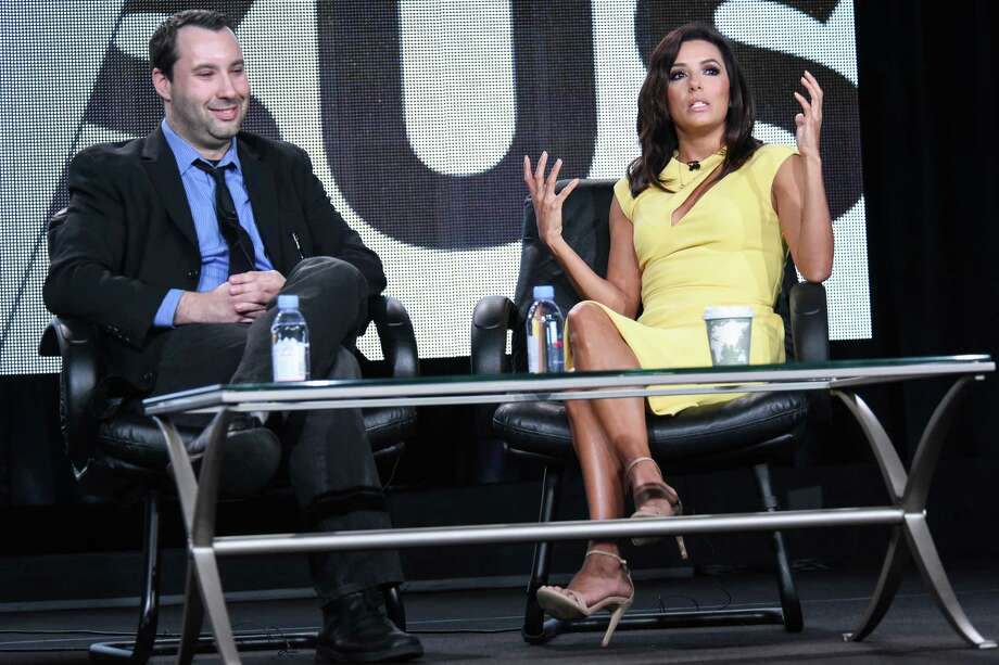 """""""I really enjoy finding the truth of things as opposed to working with actors,"""" says Eva Longoria, with Dan Silva in Pasadena. Photo: Richard Shotwell / Richard Shotwell / Invision / Invision"""