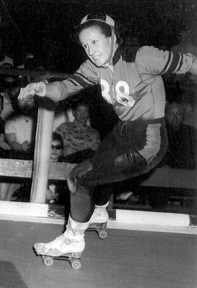 "Annis ""Big Red"" Jensen was the first women's captain of the original S.F. Bay Bombers. Photo: Photo Courtesy Roller Derby / ONLINE_YES"
