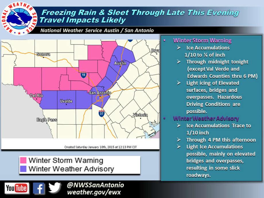 National Weather Service advisory. Photo: Courtesy