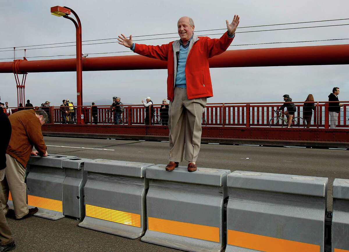 Brian Sobel joins other bridge staff and dignitaries as they wait for an escort and had a few minutes on the bridge for pictures.