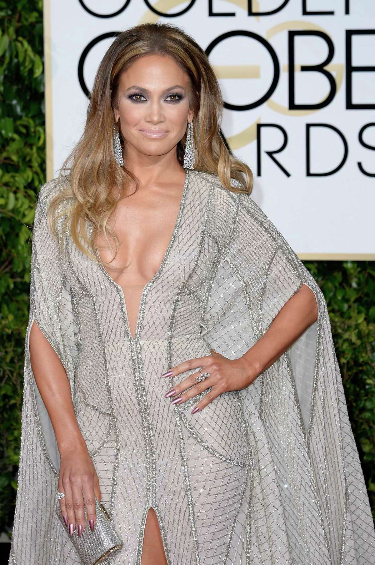 BEVERLY HILLS, CA - JANUARY 11: 72nd ANNUAL GOLDEN GLOBE AWARDS -- Pictured: Actress/singer Jennifer Lopez arrives to the 72nd Annual Golden Globe Awards held at the Beverly Hilton Hotel on January 11, 2015.