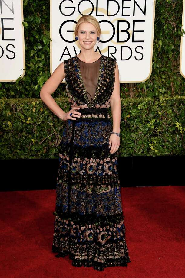 """Claire Danes said she wore this Valentino feathered fiasco because it was """"art."""" Photo: Jason Merritt, Staff / Getty Images / 2015 Getty Images"""