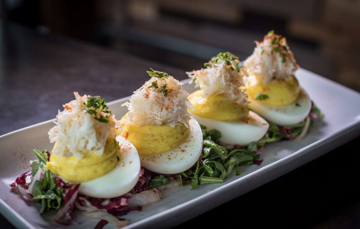 The Deviled Eggs at Oso in Sonoma, Calif., are seen on Friday January 2nd, 2015.