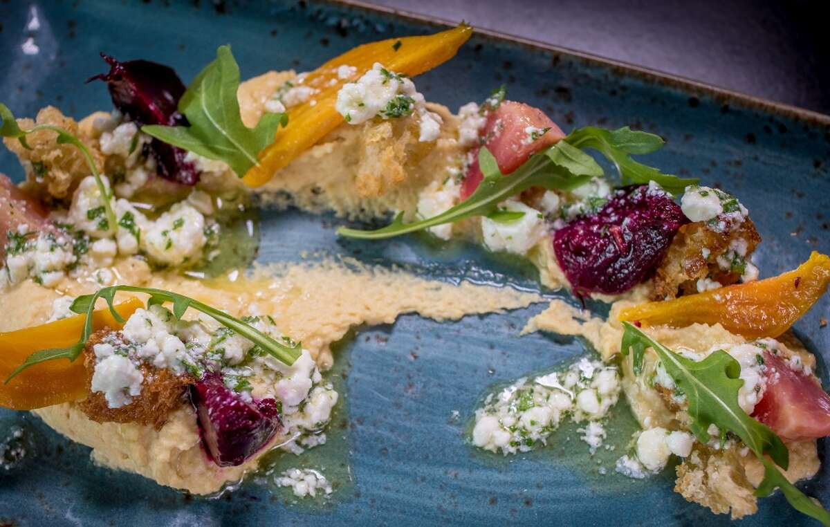 The roasted Baby Beet Salad at Oso in Sonoma, Calif., is seen on Friday January 2nd, 2015.