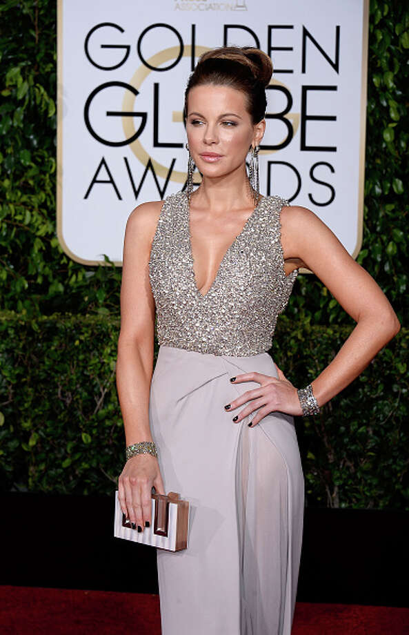 SILVER SPARKLES: Kate Beckinsale Photo: Kevork Djansezian/NBC, NBC Via Getty Images / 2015 Kevork Djansezian/NBC