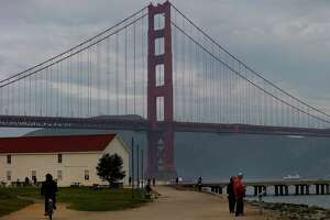 A former Army airfield, Crissy Field now boasts the Warming Hut, above left, as well as spectacular views of the Golden Gate Bridge and well-worn paths for exploring.