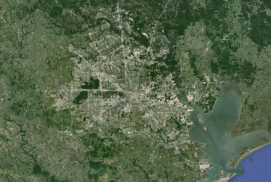 We've got satellites to see our city from above, but what did local residents from the 1800s have? See some of the fantastic work done by illustrators for Houston and Galveston. Photo: Google Earth
