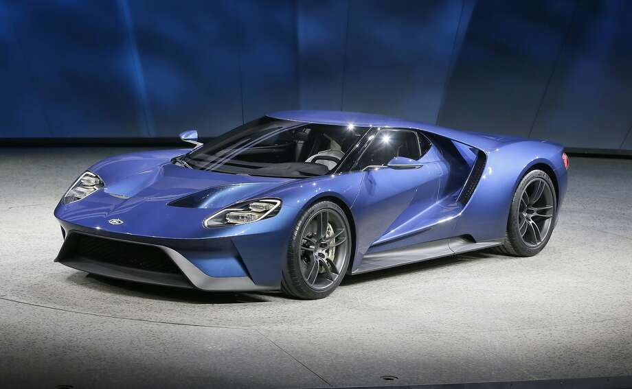 The new Ford GT is unveiled at the North American International Auto Show, Monday, Jan. 12, 2015 in Detroit. (AP Photo/Carlos Osorio) Photo: Carlos Osorio, Associated Press