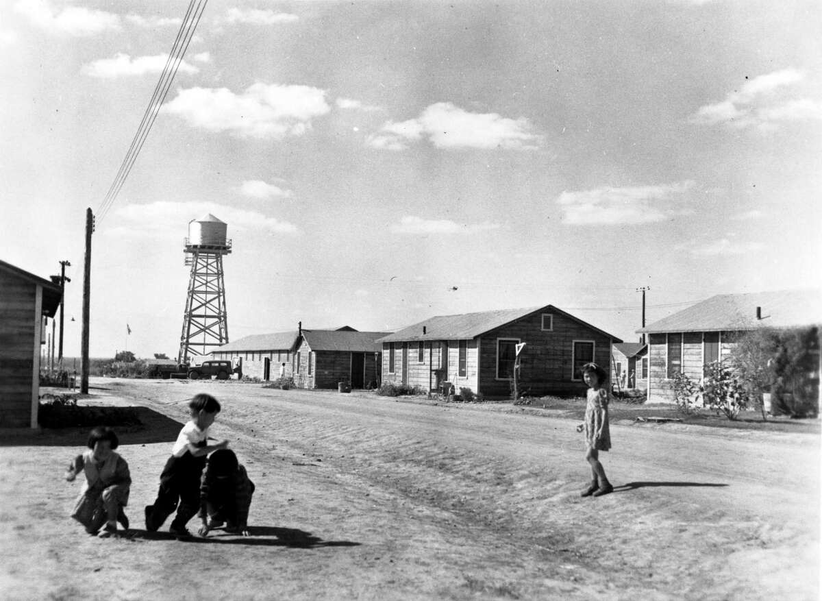 Children play at the Crystal City Enemy Detention Center in 1944.