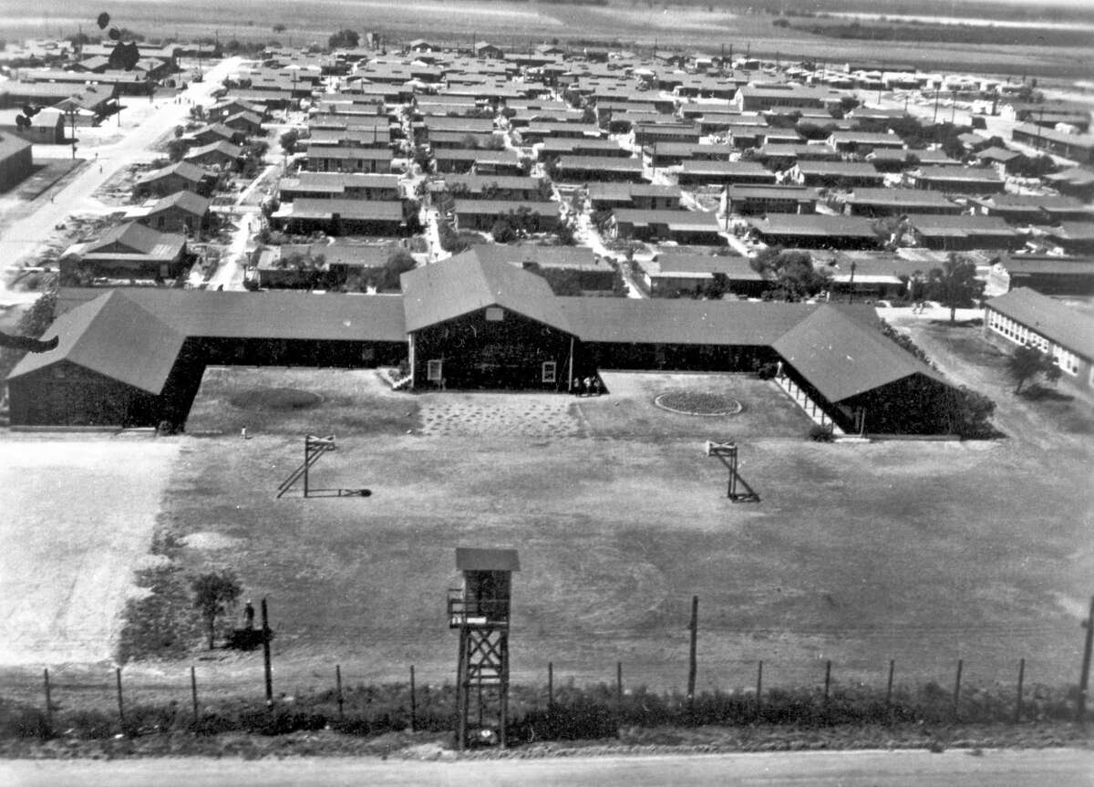 The north facade of the Crystal City Enemy Detention Center in the '40s.