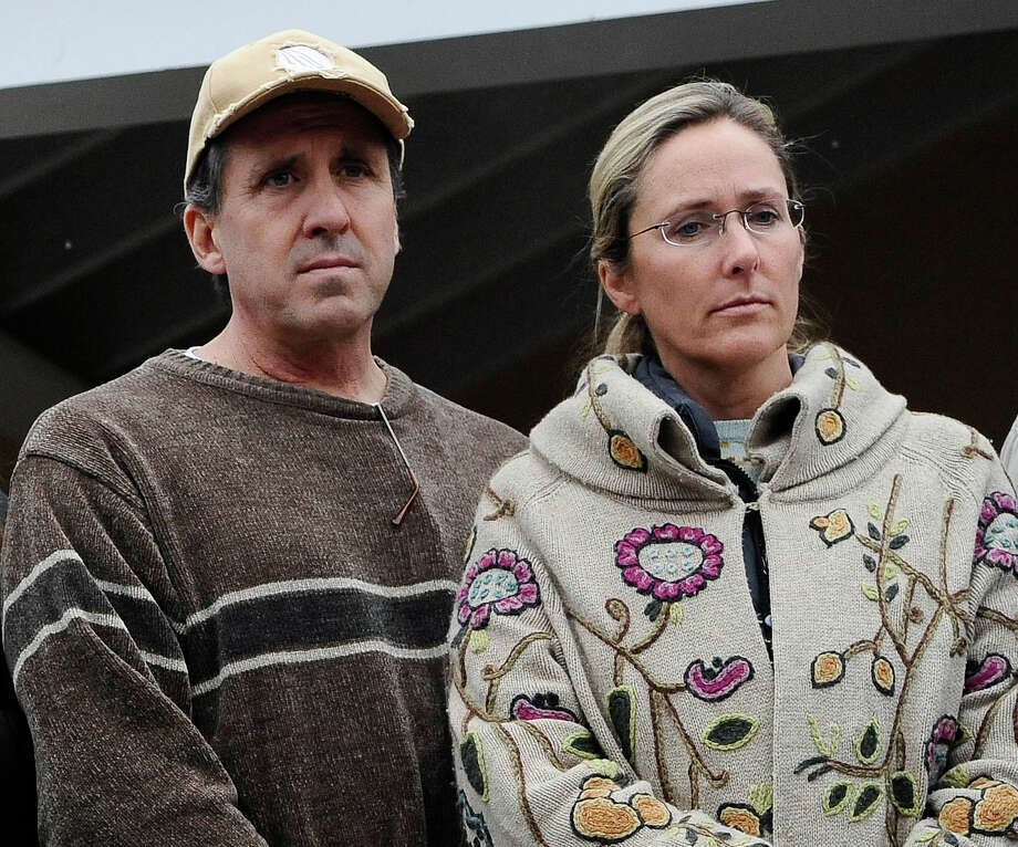 Neil Heslin and Scarlett Lewis, parents and co-administrators of the estate of Jesse McCord Lewis, are plaintiffs in a civil lawsuit against the town of Newtown, the Board of Education and the Sandy Hook Elementary School. Photo: Jessica Hill, AP Photo/Jessica Hill / Associated Press(AP Photo)
