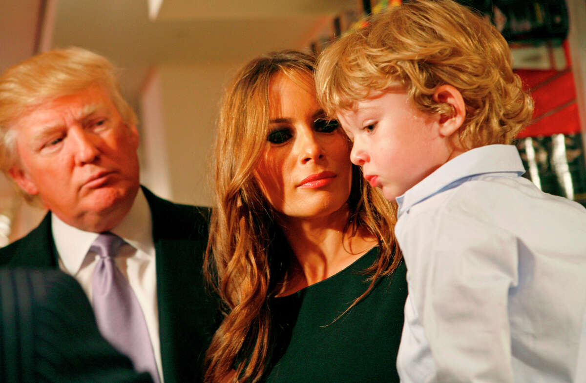 Donald Trump: The business magnate became a father for the fifth time at age 60 when his third wife, model Melania Knauss-Trump, gave birth to Barron.