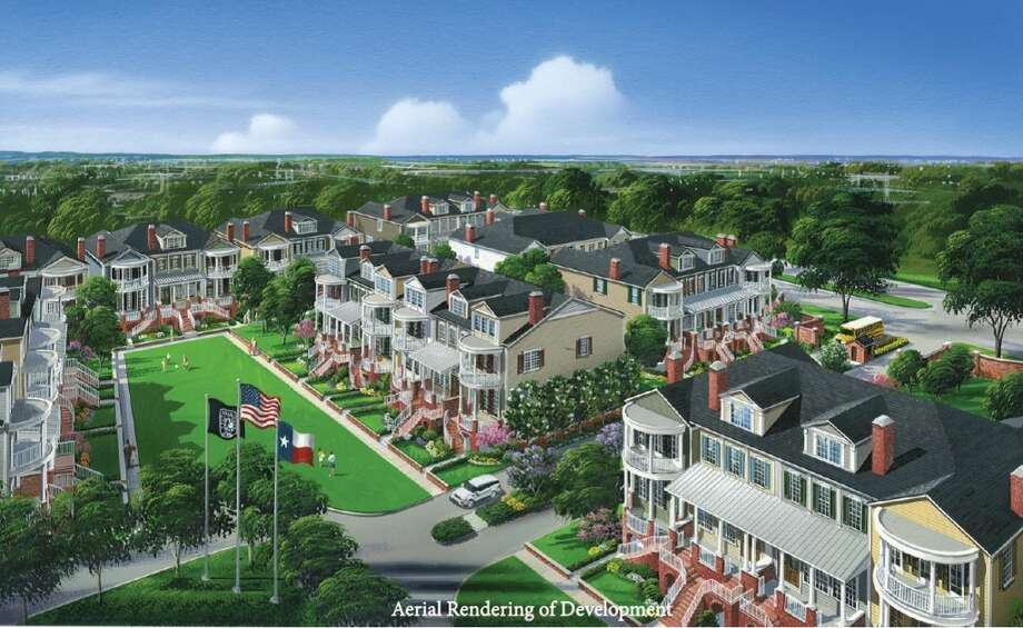 An aerial rendering of Crane Square. Photo: Courtesy Of Rohe & Wright