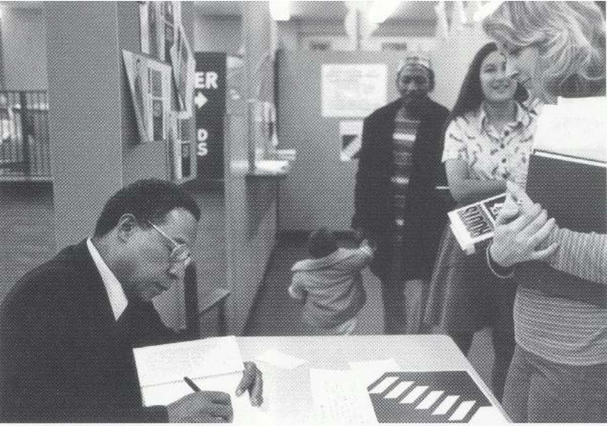 Alex Haley, author of Roots, at a University Book Store signing in 1977.