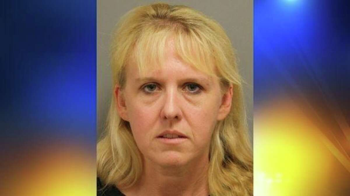 """Cypress woman receives unwanted attention Samantha Weber (pictured here)was charged with felony online impersonation after pretending to be her ex-boyfriend's new girlfriend. She posed as the woman and sought out men to """"perform sex acts on them."""" The woman in the new relationship called authorities to complain about unknown men arriving at her door, and police tracked the IP address back to Weber."""