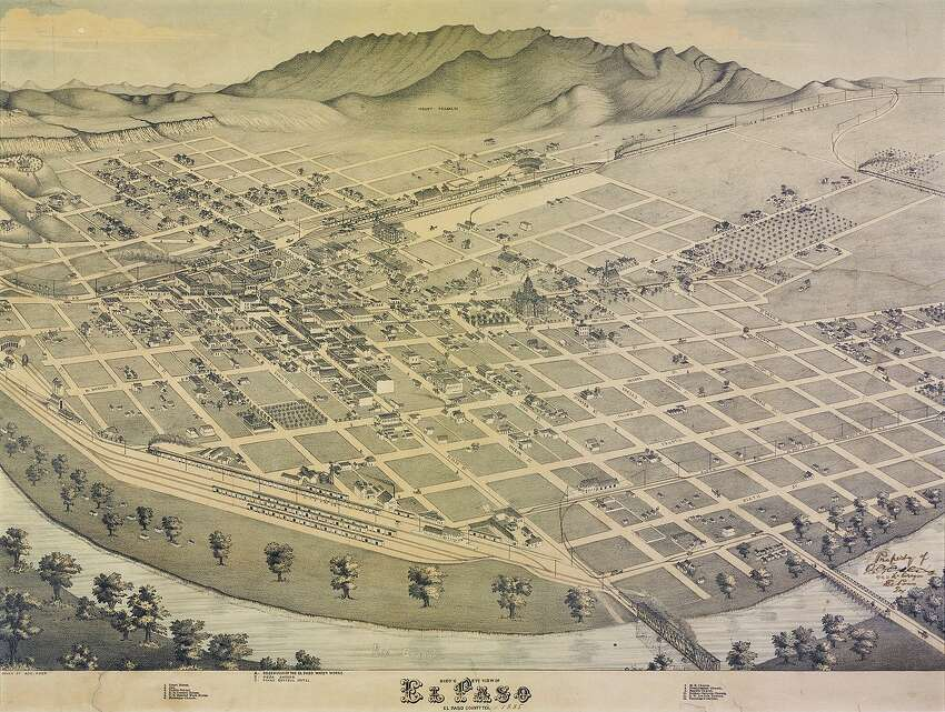 The City of El Paso as pictured in this 1886 illustration.