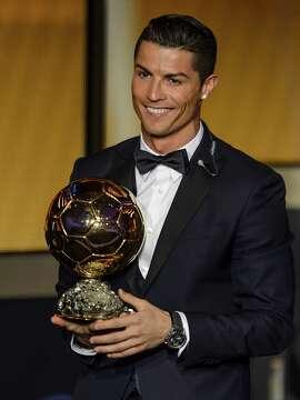 Cristiano Ronaldo received the 2014 Ballon d'Or award as FIFA's player of the year.