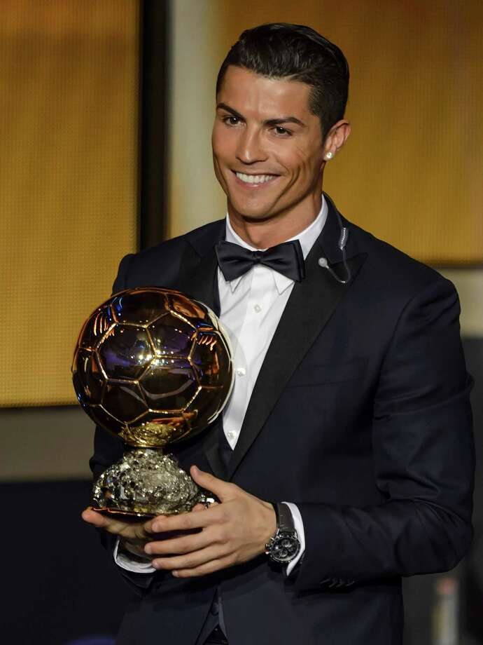 Cristiano Ronaldo received the 2014 Ballon d'Or award as FIFA's player of the year. Photo: FABRICE COFFRINI / AFP/Getty Images / AFP