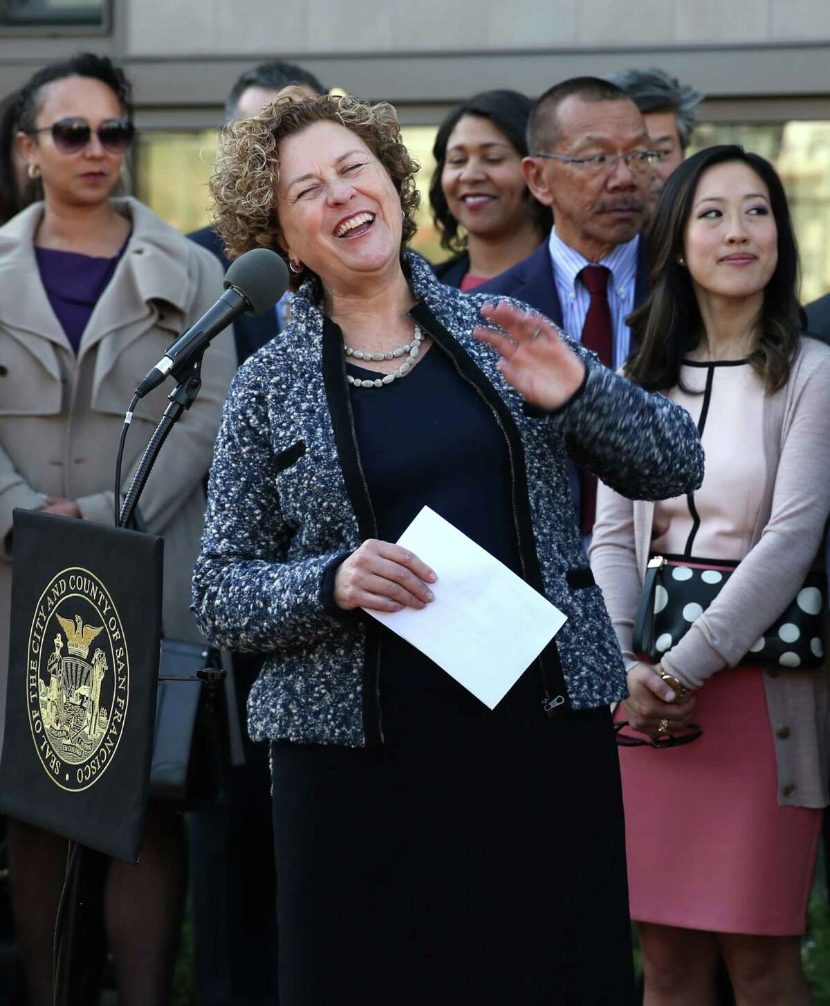 Julie Christensen was selected by Mayor Ed Lee to fill the vacant District Three supervisor seat.