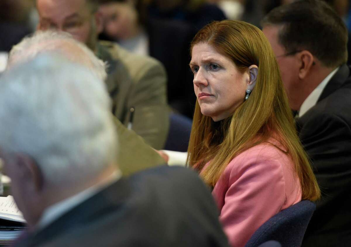 Elizabeth Berlin, executive deputy commissioner of the state education department and interim Commissioner listens to discussions during the meeting of the Board of Regents which took place Monday morning Jan. 12, 2015 in Albany, N.Y. (Skip Dickstein/Times Union)