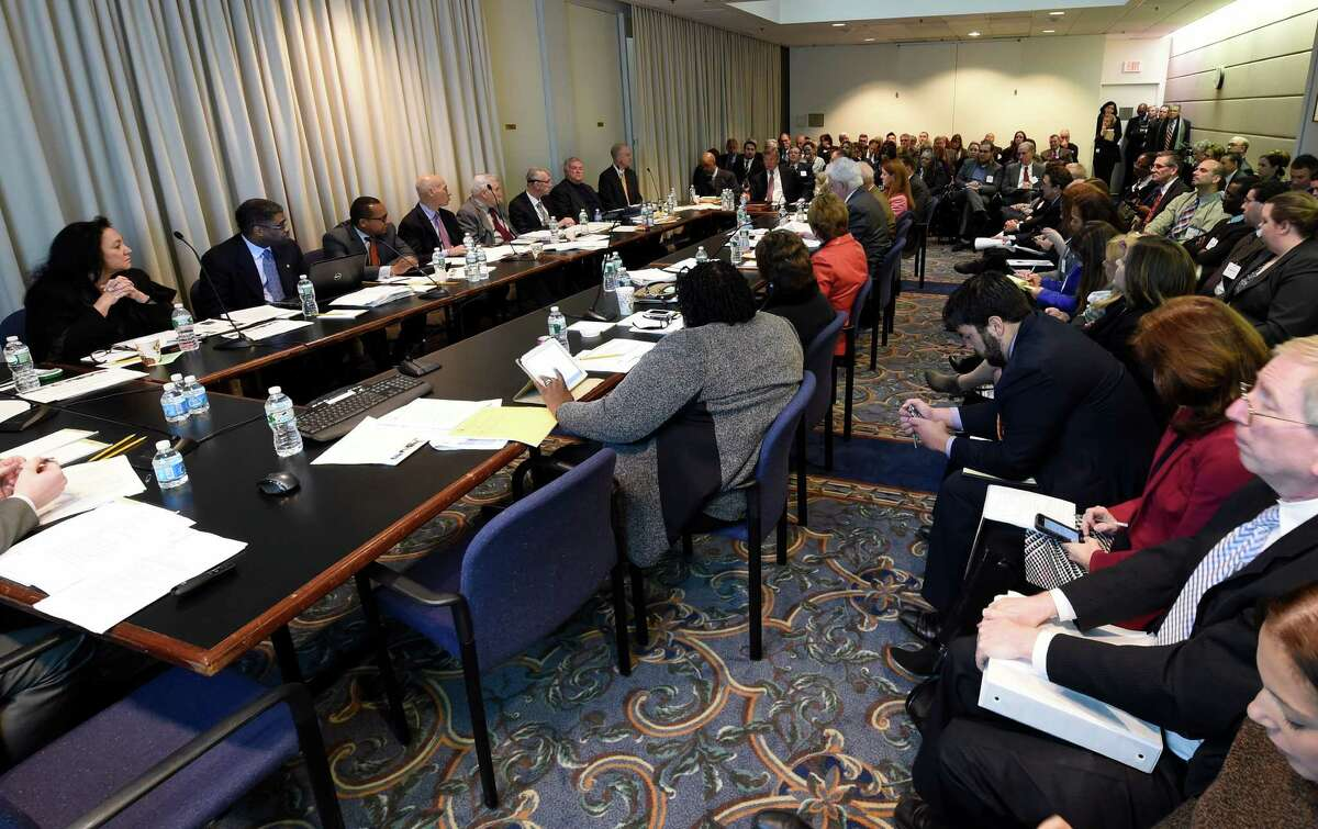The Board of Regents heard an application request for the first charter school in a suburban area Monday morning Jan. 12, 2015 in Albany, N.Y. (Skip Dickstein/Times Union)