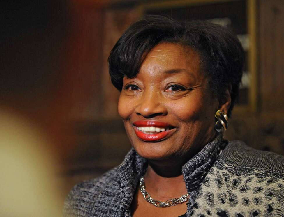 Democratic Conference Leader Senator Andrea Stewart-Cousins talks to the press about the Women's Equality Act bill Monday afternoon, Jan. 12, 2015, at the Capitol in Albany, N.Y. (Lori Van Buren / Times Union)