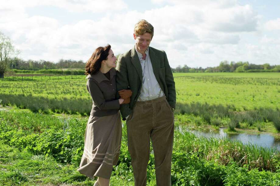"James Norton (right) stars as vicar Sidney Chambers, with Morven Christie as his first love, in ""Grantchester."""