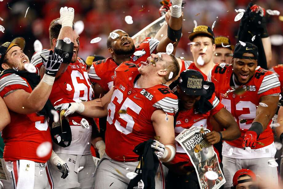 Football pundits have tabbed defending champion Ohio State as the early favorite in 2015-16. Photo: Christian Petersen, Getty Images