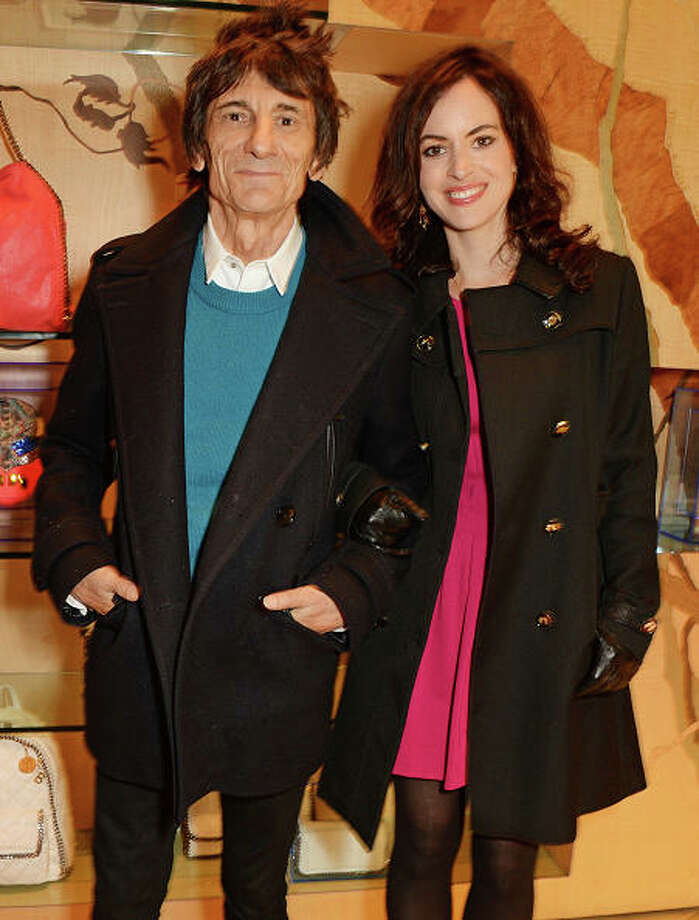 Ronnie Wood, 67, married his third wife,  Sally Wood, 37, in 2012. Photo: David M. Benett, 2014 David M. Benett / 2014 David M. Benett