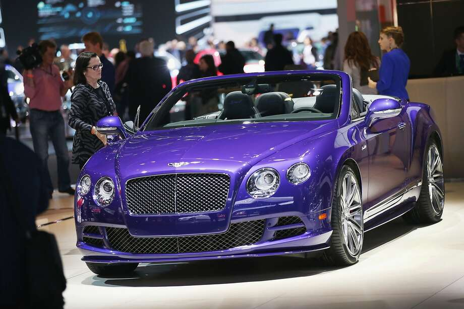 Bentley shows off their GTS Speed convertible at the North American International Auto Show (NAIAS) on January 12, 2015 in Detroit, Michigan. The auto show opens to the public January 17-25.  Photo: Scott Olson, Getty Images