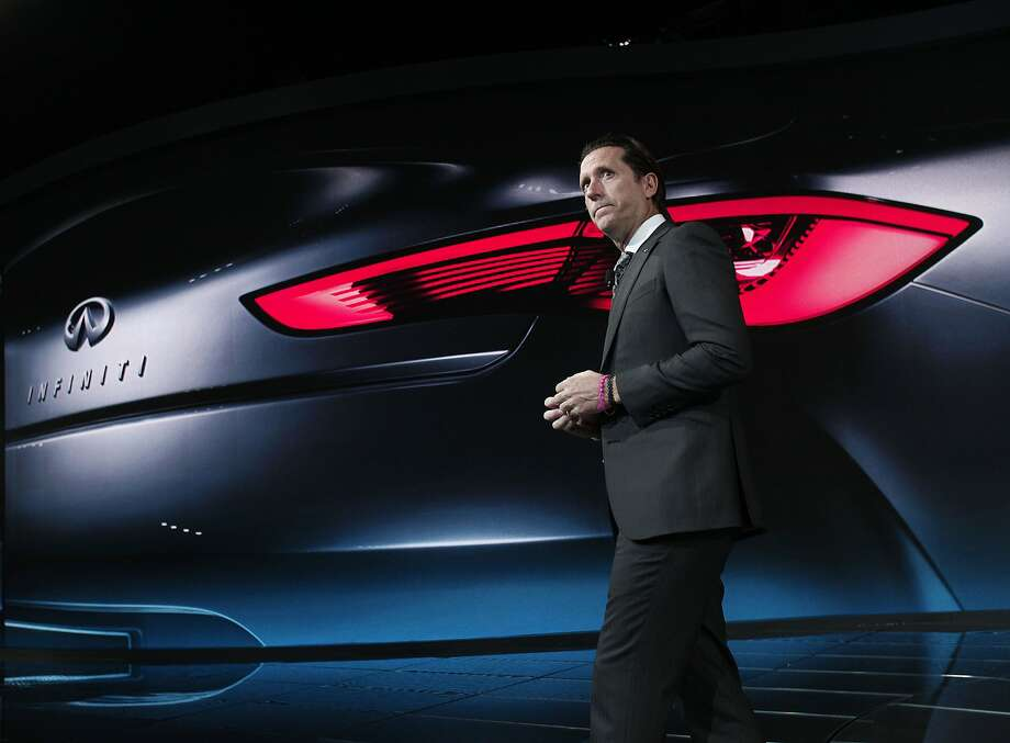 Infiniti Q60:Alfonso Albaisa, Infiniti's executive director of design, reveals the concept car Jan. 13, 2015, at the North American International Auto Show in Detroit.  Photo: Bill Pugliano, Getty Images