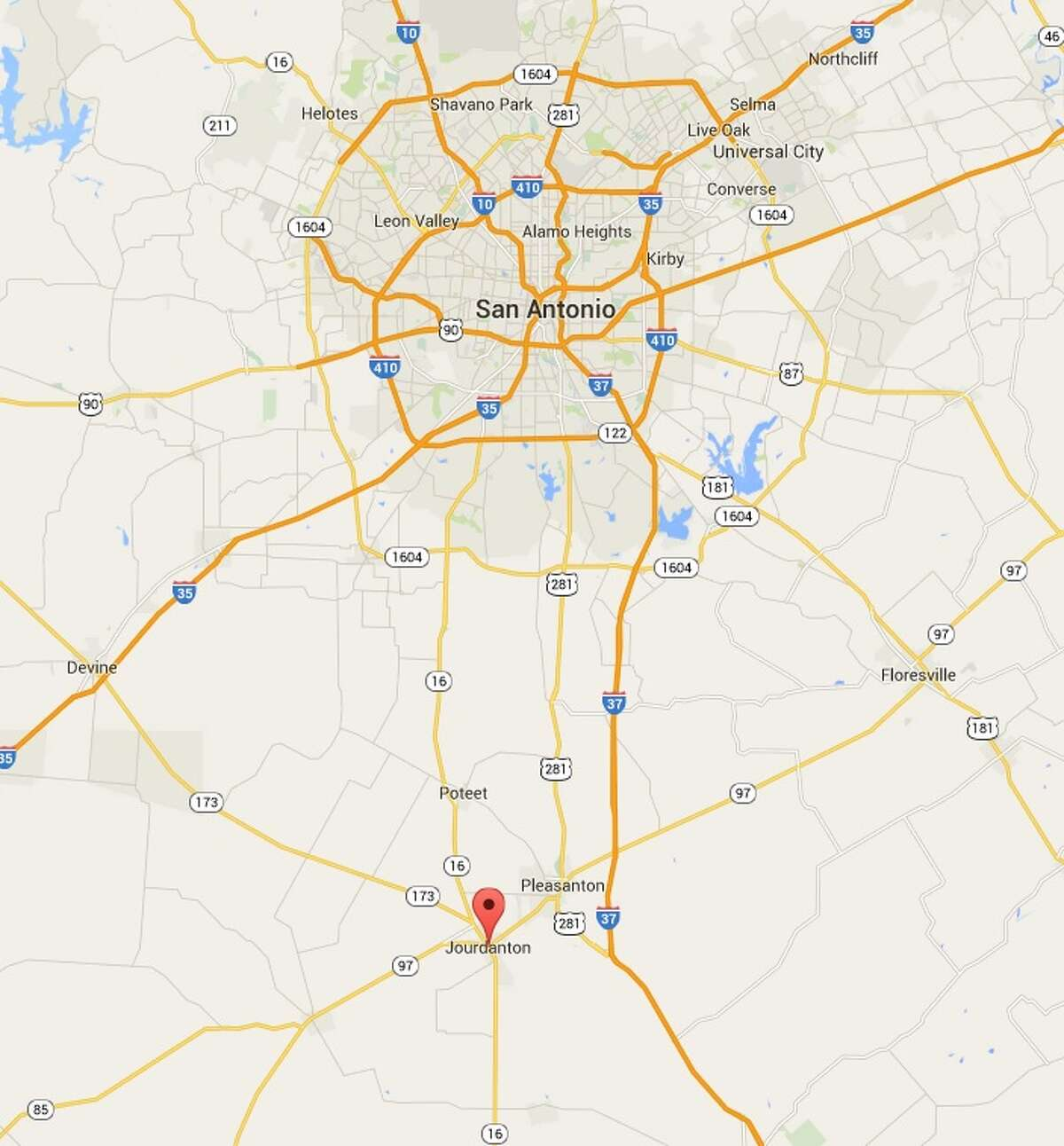 A man died Tuesday morning after being shot by a police officer in Jourdanton.