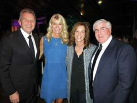 Joe and Jennifer Montana (left) with Gayle and Ron Conway at the UCSF Champions Gala.