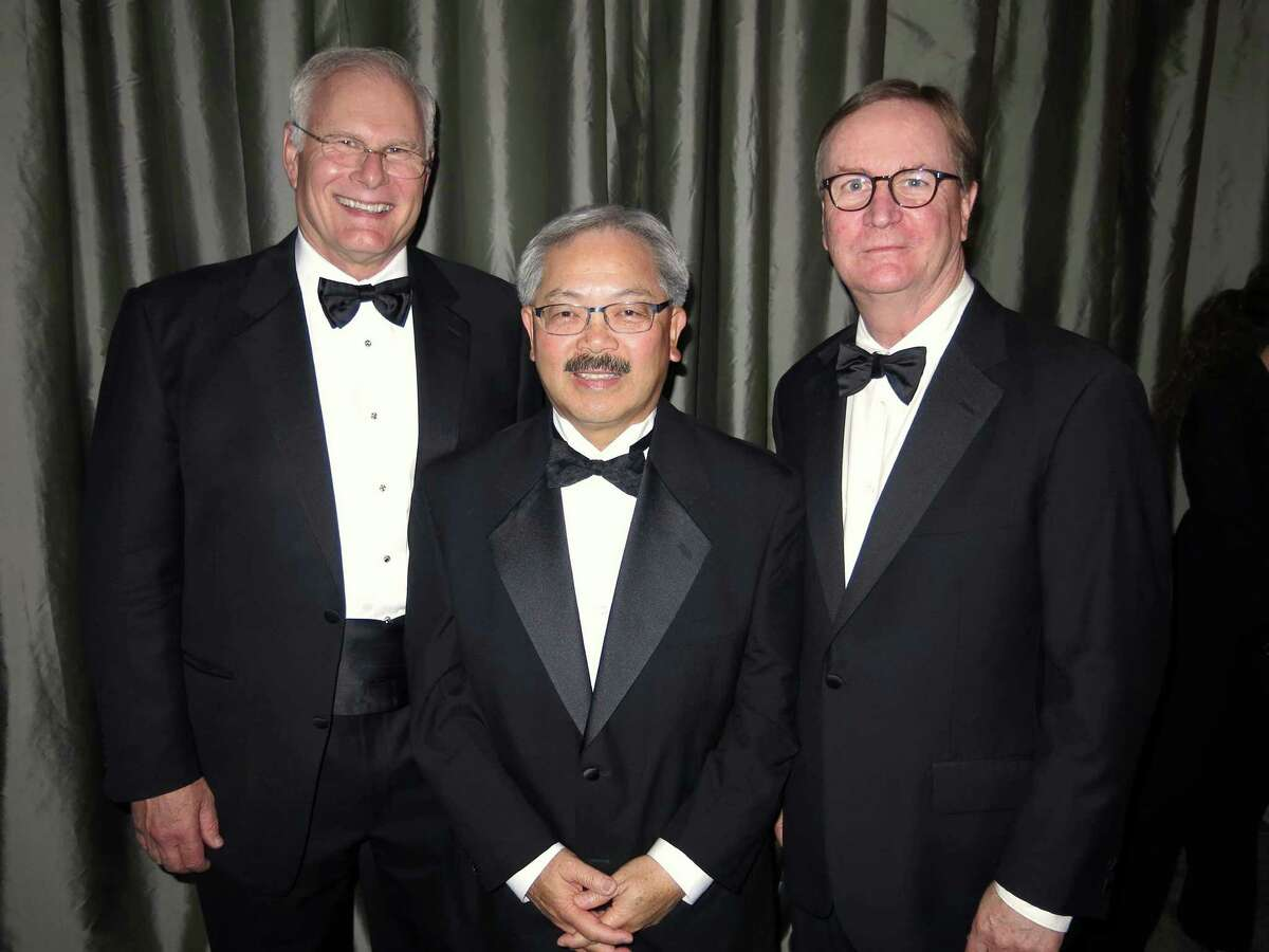 UCSF CEO Mark Laret (left), Mayor Ed Lee and UCSF Chancellor Dr. Sam Hawgood at the gala.