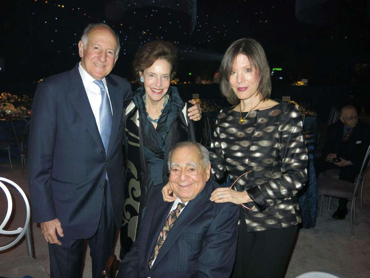 Retired state Chief Justice Ron George and wife Barbara (left) with Barbara and Gerson Bakar.