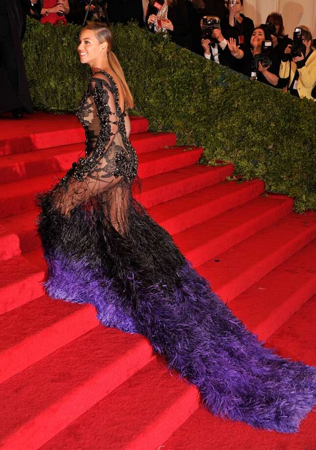 "Beyonce Knowles at the 2012 MET Ball ""Schiaparelli And Prada: Impossible Conversations"" Costume Institute Gala, May 7, 2012. Photo: Stephen Lovekin/FilmMagic"