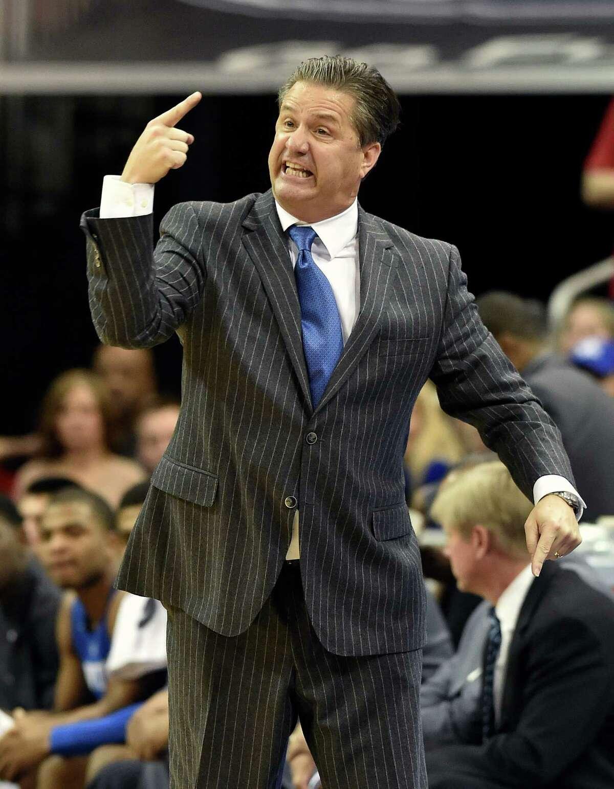 Kentucky's fiery John Calipari often has top recruiting classes.