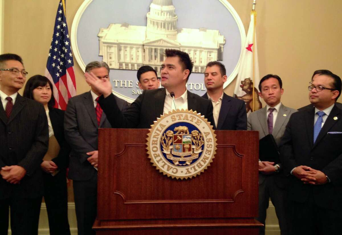 Jose Antonio Vargas said he received a California driver's license Thursday under the state's new law that allows immigrants in the country without documentation to apply. Vargas is a Filipino-born journalist who moved to the Bay Area when he was 12. He was thrust into the spotlight in 2011 when he revealed in a New York Times magazine cover story that he was living in the United States without legal permission.