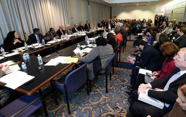 The Board of Regents heard an application request for the first charter school in a suburban area Monday morning Jan. 12, 2015 in Albany, N.Y.   (Skip Dickstein/Times Union) Photo: SKIP DICKSTEIN, ALBANY TIMES UNION / 00030170A