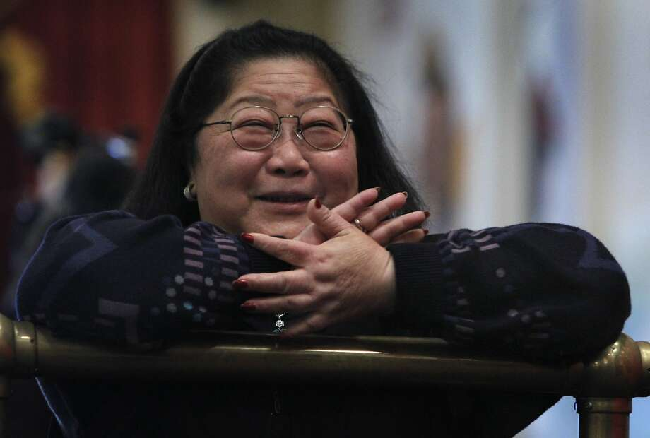 Rose Pak was all smiles at a luncheon in Chinatown to express support for Ed Lee as a potential interim mayor candidate in San Francisco in 2011. Photo: Paul Chinn, The Chronicle