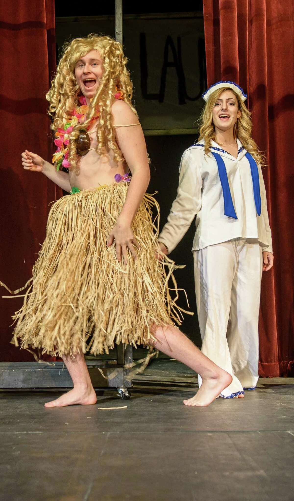 Alvin High students Reese Powling, 17 plays Honey Bun and sings with Megan Tucker, 17 who plays Nellie during rehearsal of the play South Pacific 01/08/15.