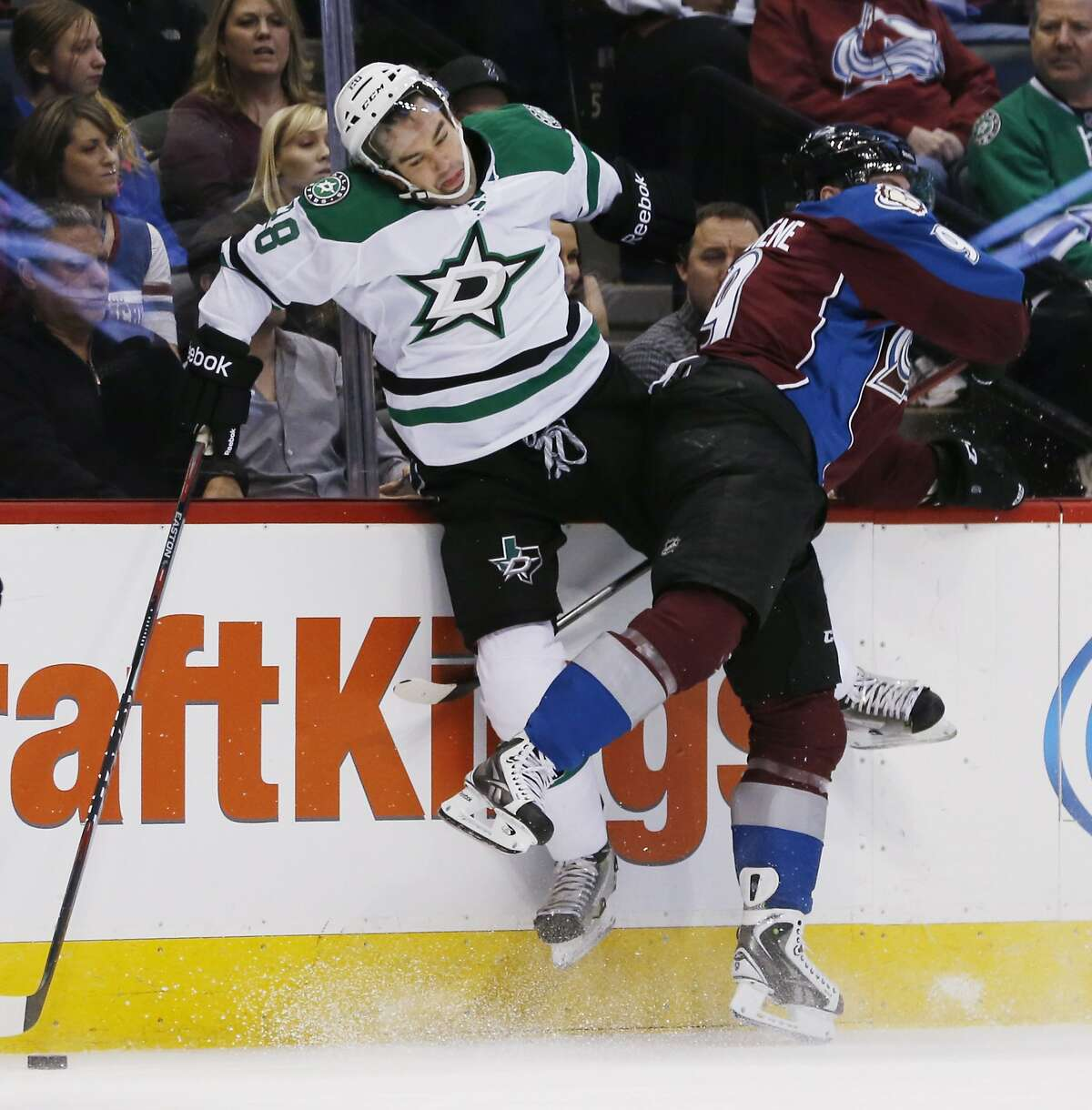 Those who sport the pentagram often have the ability to levitate as Dallas Stars defenseman David Schlemko demonstrates.