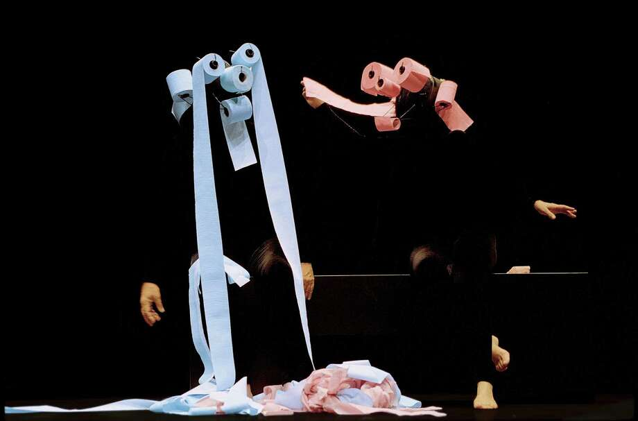 The Swiss mime company, Mummenschanz, will present two shows on Saturday, Jan. 24, at Fairfield University's Quick Center for the Arts. The company uses common materials, like toilet paper, to create its playful scenes without words, music or sounds of any kind. Photo: Contributed Photo / Connecticut Post Contributed