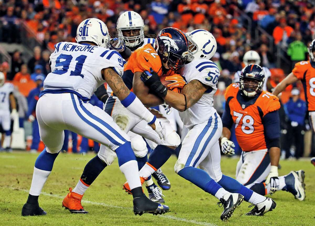 The Colts have improved their run defense, allowing Denver running back C.J. Anderson just 80 yards in Sunday's win.
